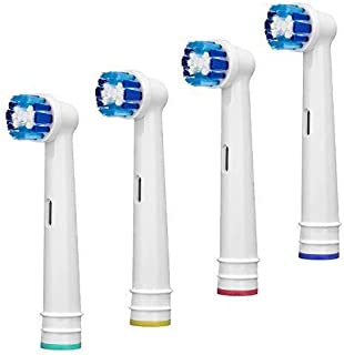Replacement Toothbrush Heads Compatible With Oral B Braun, 4 Pack Professional Electric Toothbrush Heads Precision Clean Brush Heads Refill for Oral-B 7000/Pro 1000/9600/ 500/3000/8000 (4pack)
