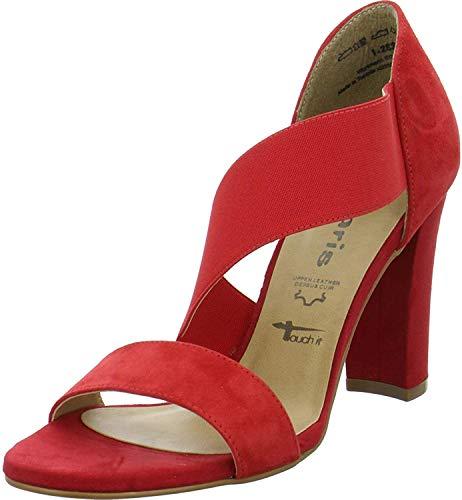 Tamaris 1-28396-22 Damen Riemchen Sandaletten Sandalen Touch-IT, Schuhgröße:37 EU, Farbe:Rot