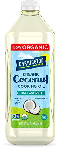 Carrington Farms liquid coconut cooking oil, unflavored, 32 Fl Oz