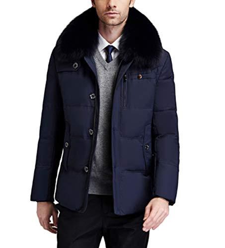 GL SUIT Herren Parka Jacke Heavy Weight Wintermantel Windjacke Parka Jacke atmungsaktiv Thermo Fleece-Jacke Wärme verdicken beiläufige Outwear Mantel Kleidung für Reisen Wandern,Dark Blue,L