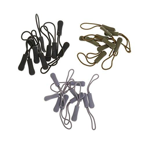 MagiDeal 30 Pcs Antidérapant Corde de Fermeture à Glissière Cordon de Tirette Remplacement Accessoire pour Sac Tissu