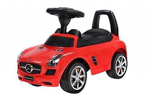 Spingere - Giocattolo da tirare - Baby car - Auto per bambini BSD Mercedes SLS AMG 332 Rosso Ride-On giocattolo
