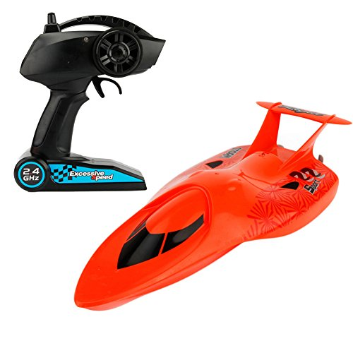 Zlimio 2.4GHz Mini High Speed Remote Control RC Submarine Racing Speedboat Ship for Kids Toy