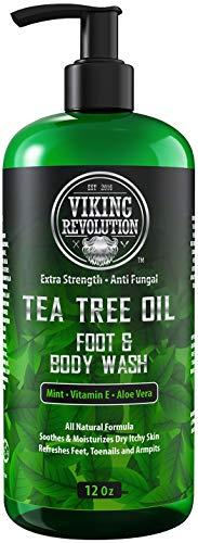 Antifungal Tea Tree Body Wash for Men - Helps Athlete s Foot, Toenail Fungus, Jock Itch, Eczema, Ringworm & Body Odors - Extra Strength Tea Tree Oil Men s Body and Foot Wash