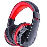 Auriculares inalámbricos Bluetooth, Auriculares portátiles para teléfonos móviles, Auriculares estéreo subwoofer, Negros (Color : Red)