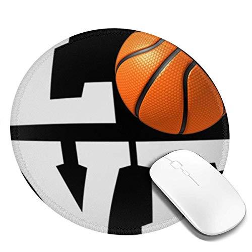 Alfombrilla de ratón para Juegos Redonda Amor de Baloncesto para Aficionados al Baloncesto, Alfombrilla para ratón, Alfombrilla para ratón, Alfombrilla para Ordenador, PC y portátil