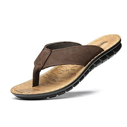 bjyxszd Sandalias de Punta Descubierta Ducha y Baño Chanclas Antideslizante,Carácter de los Hombres arrastrando los Zapatos de Playa de Arena de veranomasaje Antideslizante-marrón_39