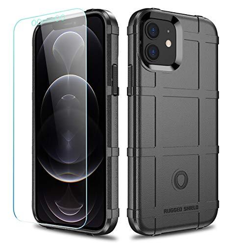 LABILUS Schutzhülle für iPhone 12, 12 Pro (15,5 cm), TPU, dick, robust, taktische Schutzhülle für iPhone 12/12 Pro (15,5 cm) – Dunkelschwarz