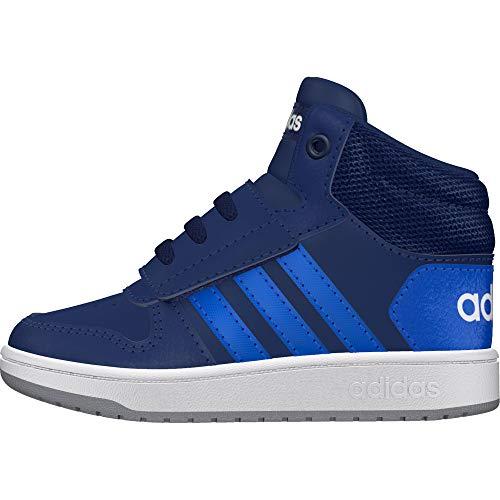adidas Unisex Baby Hoops 2.0 Mid Sneaker, Blau (Dark Blue/Blue/Footwear White 0), 26 EU