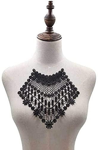 Aeromdale Escote encaje Trim apliques cuello bordado hierro en parches para vestido...