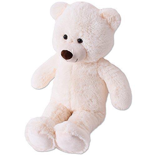 TE-Trend XL Plüsch Teddybär Riesen Teddy Kuscheltier Kuschelteddy Bär 80cm beige Plüschbär sitzend