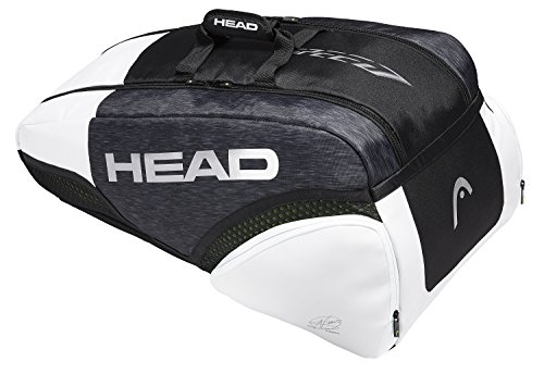 HEAD Djokovic 9R Supercombi Klassische Sporttaschen, schwarz, 7-9 Tennisschläger