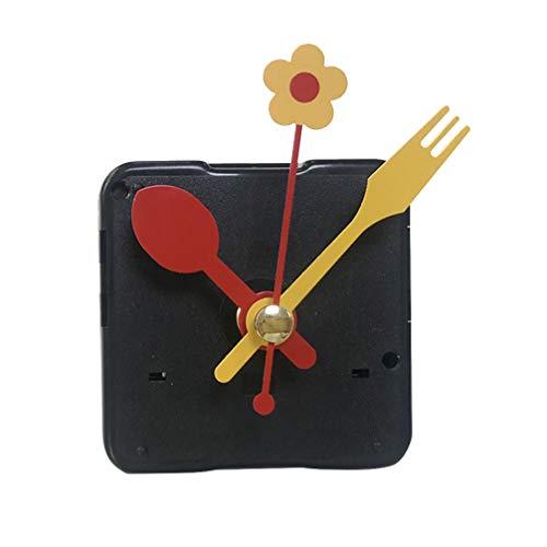 DOITOOL 1 piezas kit de movimiento reloj de cuarzo silencioso mecanismo de reloj diy maquinaria reloj pared maquinaria de reloj con agujas de pared con 3 manos sin batería (forma de cuchara)