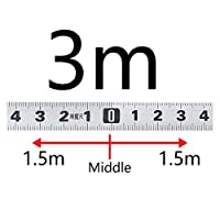 計量マイタートラックテープメジャー0.5 ''スチールの自己接着スケールルーラーテープ1-5mのための1-5m Tトラック木工ツール (色 : SS 3M M)