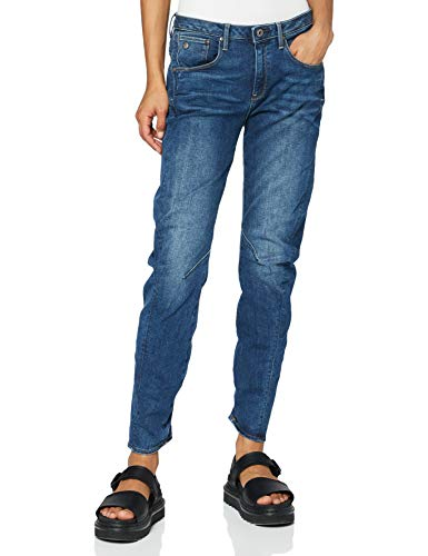G-STAR RAW Damen Jeans Arc 3d Low Waist Boyfriend Jeans, Blau (Medium Aged 6553-071), 30W / 32L