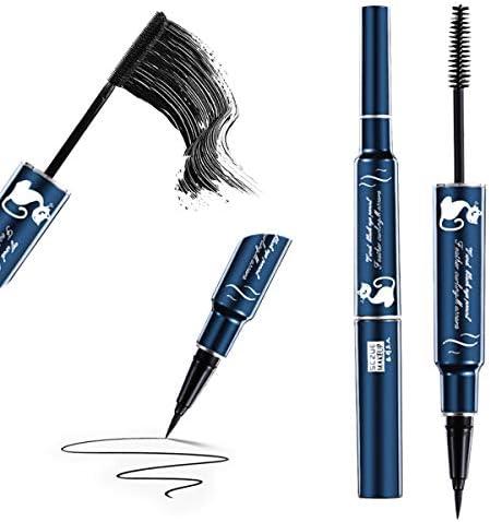 4D Silk Fiber Lash Mascara Eyeliner Pen Set Eguled Double Head 2 in 1 Waterproof Liquid Lash product image
