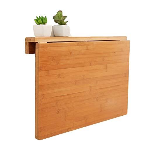Mesa Plegable Mesa Abatible de Pared, Escritorio Montado en La Pared Multifuncional del Ordenador Portátil del Pliegue hacia Abajo, Color de Bambú (Size : 70X45cm/27.6'X17.7')
