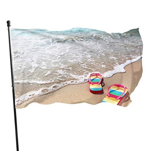 PageHar Strand Flip Flops In Regenbogen Farbe Outdoor Yard Flag Stand Flags Für Raumdekorationen 3x5 Fuß Lebendige Farben Quali
