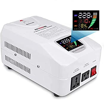 Beleeb Auto Step Up Step Down Voltage Transformer Converter 110-120 to 220-240 Volts Overload LED LCD Soft Start Circuit Breaker Protection AC 100V±20%220V±20% Power Converter 3000W [1-Year Warranty]
