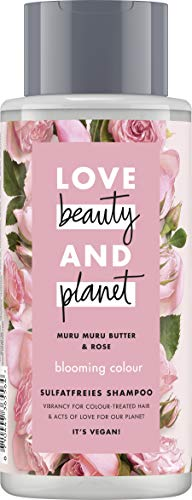 Love Beauty And Planet Blooming Colour Shampoo, für gefärbtes Haar Murumuru Butter & Rose sulfatfrei,1 Stück (400 ml)