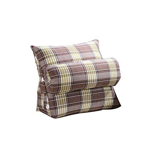 coussins pour Triangle Coussinets À Dossier Large En Coton Ajustable, Linge De Lit Canapé Taille Du Col L * H 60X50CM (Couleur : Vert, taille : Striped lattice 60cm)