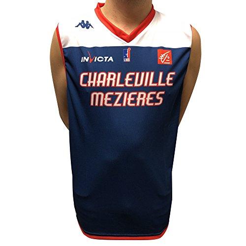 Kappa Basket Replica Star - Maglia da Basket 2017-2018 da Uomo, Uomo, Maillot Replica Etoile Home, Bianco, FR : XXS (Taille Fabricant : 8 Ans)