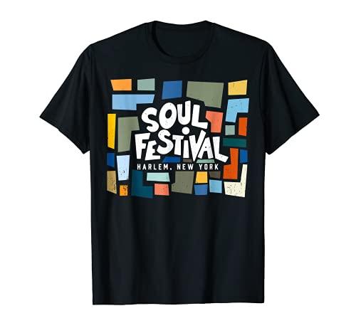 Retro '70s Soul Festival Harlem Nueva York Camiseta