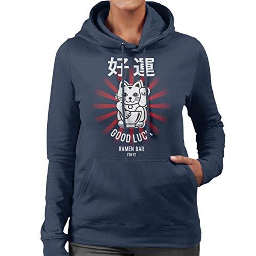 De Ramen kleding bedrijf veel geluk Noodle Bar Tokyo vrouwen Hooded Sweatshirt