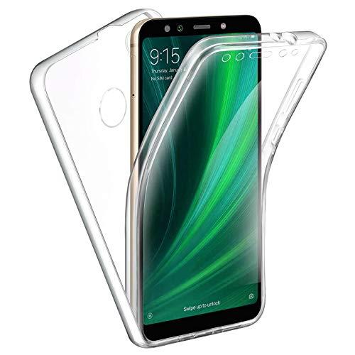TBOC Funda para Xiaomi Mi A2 [5.99 Pulgadas] - Carcasa [Transparente] Completa [Silicona TPU] Doble Cara [360 Grados] Protección Integral Total Delantera Trasera Lateral Móvil Resistente Golpes