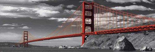 Empire Poster Pont du Golden Gate de San Francisco, Format Porte + Accessoires de Fixation Multicolore