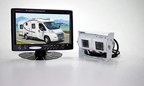 Rückfahrkamera Set Doppelkamera Technikshop24 Doppel Kamera mit Monitor für Wohnmobil und LKW