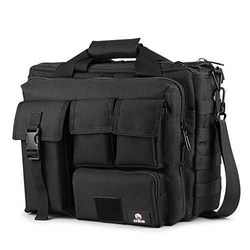 GES Multifunktions Herren Outdoor Tactical Schulter Laptoptasche Militär Nylon Metall Schnalle Laptop Messenger Aktentasche Handtaschen für 17,3