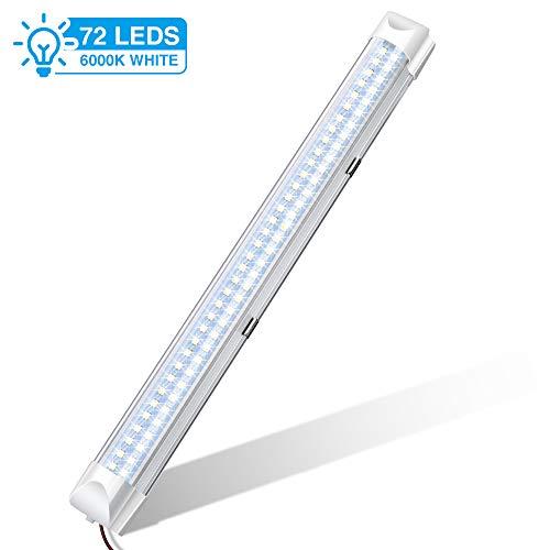 LED Interni Auto,AUDEW 72LEDs 12V 34.5cm Luci per Auto Interni Interruttore Striscia LED...