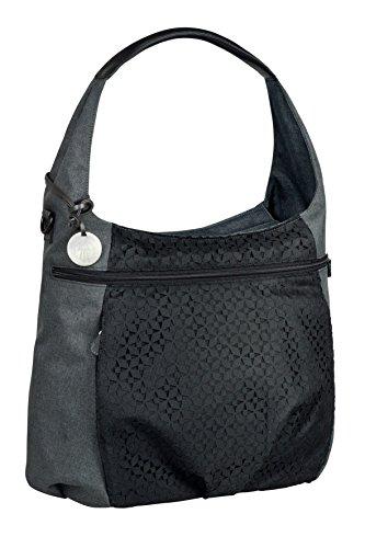 LÄSSIG Baby Wickeltasche Babytasche Stylische Tasche inkl. Wickelzubehör/Casual Hobo Bag Black