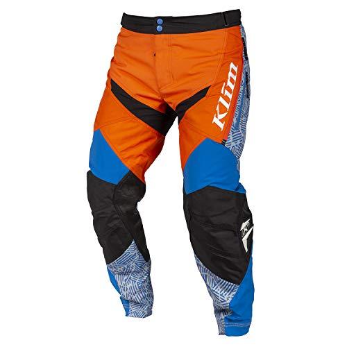 Klim Dakar In The Boot Motocross Hose Orange/Blau 30