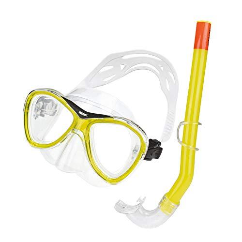Seac Set Capri MD masker en snorkel Unisex Geel