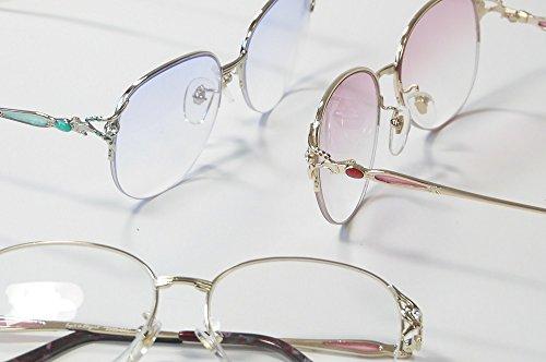 累進多焦点遠近両用老眼鏡(境目のない遠近両用メガネ) 3335 3色 7度数 (+1.50, バイオレットハーフ)
