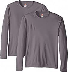 Rapid-dry interlock jersey knit wicks away moisture to keep you cool and dry Contemporary fit 50+ UPF rating provides excellent protection against harmful UV rays Double-needle stitching in neck, sleeves and bottom hem for added durability All the co...