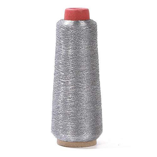 Hilos Punto De Cruz Mezcle el selección de color 3200m / rodillo carrete metálico bordado crochet punto punto punto de cruz hilado hilos de hilados máquina herramienta de costura 1 ( Color : Silver )