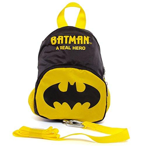 Unbekannt Kinderrucksack mit abnehmbaren Sicherheitsband im Batman Design • Kindergartentasche Kinder Sicherheitsgurt Rucksack Tasche