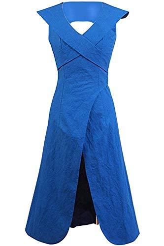 Zhangjianwangluokeji Daenerys Targaryen blaues Kleid Cosplay Umhang Kostüm (Small, Kleid)