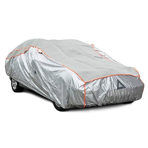 Navaris Telo Copriauto Universale Anti-Grandine - Cover Auto 480x178x119cm Impermeabile Antigelo Antipioggia - Copertura Macchina Esterno Interno - L