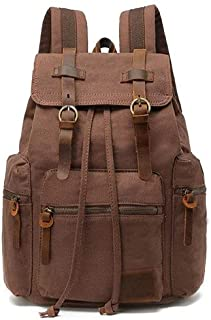 Fmdagoummzibeib Backpack, Victimized For School Hiking, Desirable For 12-17 Inch Laptop, High-capacity Canvas Vintage Back...