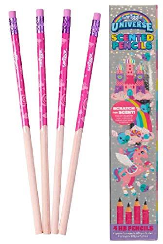 Smiggle unicornio encantador olor aroma 4 lápices HB de Maxmillgift Collections