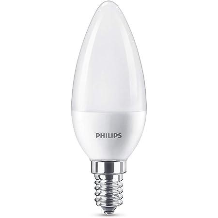 Philips Lighting 8718696702932 Philips Ampoule LED E14, 7W équivalent 60W, Froid, Plastique, Blanc, 11, 4 x 3, 8 cm