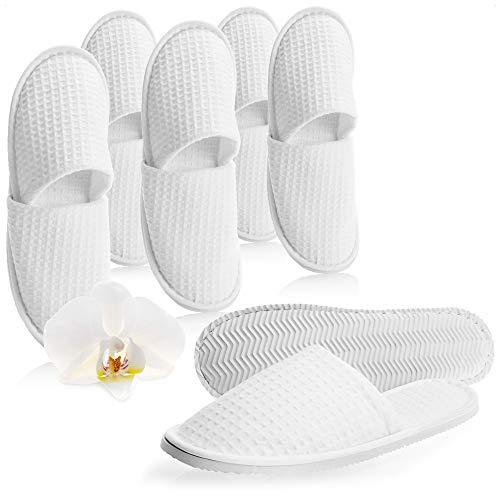 com-four® Frottee Slipper Größe 42/43, 6 Paar