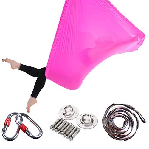 Aerial Yoga Hammock - Healthy model leven premium lucht silk yoga schommel anti-agravity yoga, verbeterde flexibiliteit en core-strength-gemakkelijk op het dak te installeren. De elastische elastische elastische band kan worden geïnstalleerd