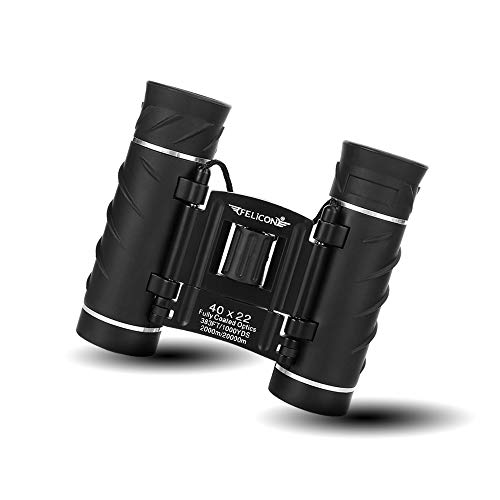 40x22 Compact Mini Binoculars for Adults, Small Lightweight High Powered Binocular Telescope for Bird Watching Travel Concerts Theater Opera Camping and Hiking, with Weak Light Night Vision