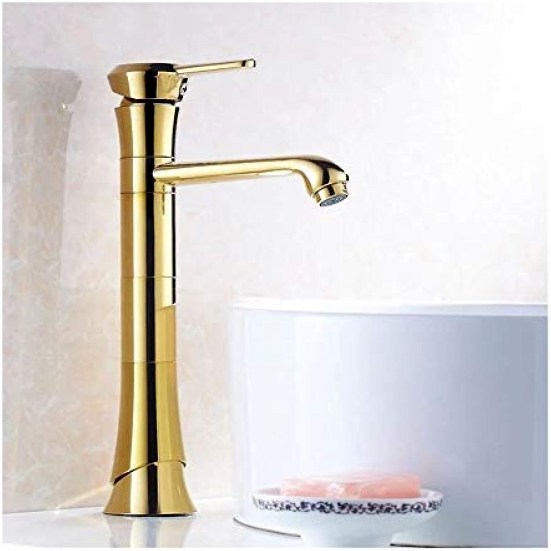 Waschtischarmaturen Antike Messing Gold Farbe Wasserhahn Hoch Bad Wasserhahn Bad Becken Mischbatterie Mit Heien Und Kalten Waschbecken Wasserhahn