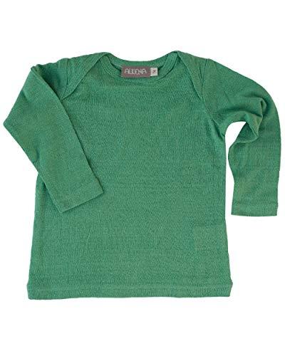 Alkena, Baby/Kleinkind Unterhemd, 100% Bourette Seide (80, Grün)